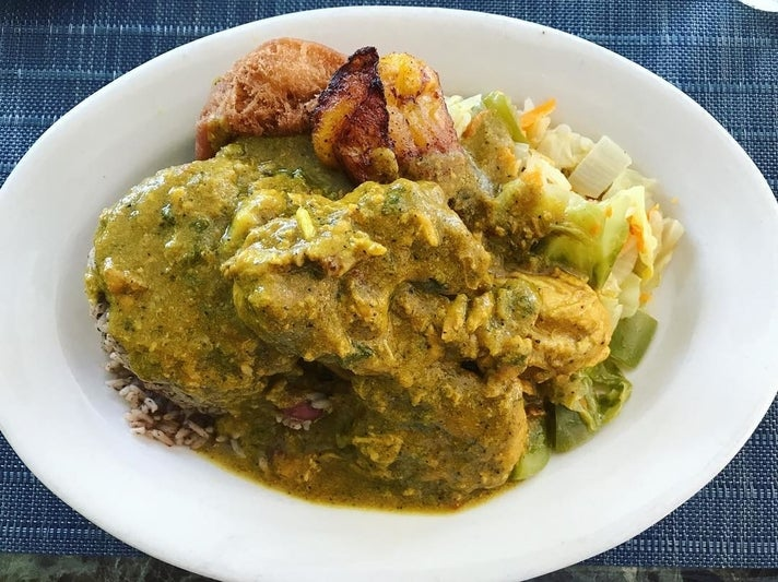 Curry chicken at Ackee Bamboo Jamaican Cuisine