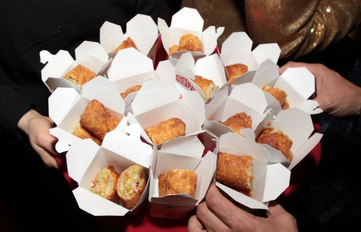 Genghis Cohen party egg rolls