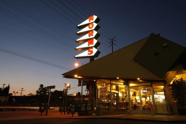 NORMS La Cienega at night