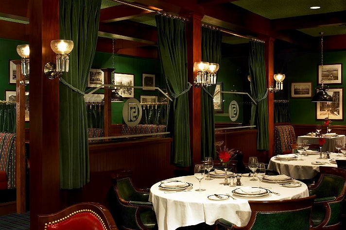 Club Car dining room at Pacific Dining Car in Downtown L.A.