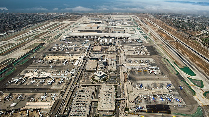Aerial view of LAX