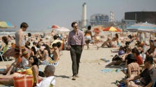 "Joaquin Phoenix at Dockweiler Beach in ""Her"""