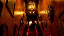 Staircase to Genesis bar in Hollywood