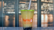 Grapefruit green tea at CoCo Fresh Juice & Tea