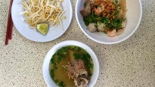 Rice noodle combo at Golden Lake Eatery