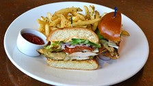 Grilled chicken sandwich at Napa Valley Grille