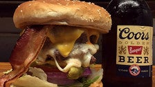 The Devine cheeseburger at Utro's Cafe