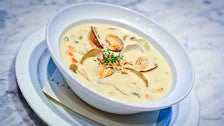 New England clam chowder at Water Grill Santa Monica
