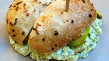 Ruskie sandwich at Wexler's Deli in the Grand Central Market