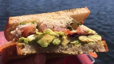 Crab & Gouda Sandwich from Beacon at Echo Park Lake