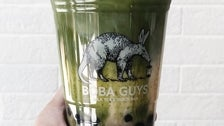 Matcha Latte at Boba Guys Culver City