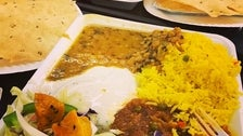 Vegetarian combo plates at India Sweets & Spices in Atwater Village