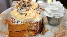 Bananas Foster French Toast at Natas Pastries