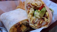 Breakfast Burrito at SteamPunk Coffee Bar & Kitchen
