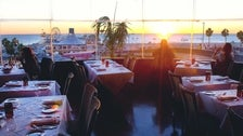 The Lobster dining room at sunset