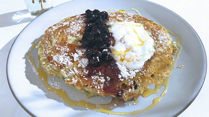 Lemon poppy seed pancakes at Pollen