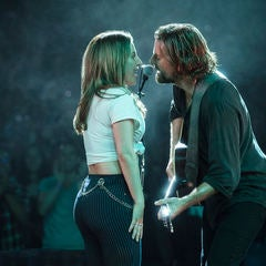 "Lady Gaga and Bradley Cooper perform ""Shallow"" in ""A Star Is Born"""