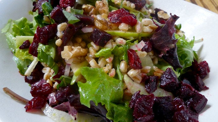 Beets and farro salad at LYFE Kitchen