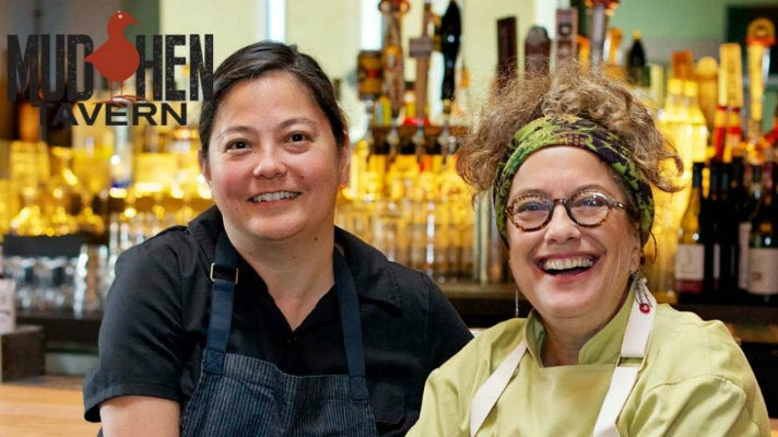 Kajsa Alger and Susan Feniger at Mud Hen Tavern