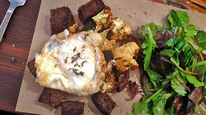 Black bread hash at Red Bread