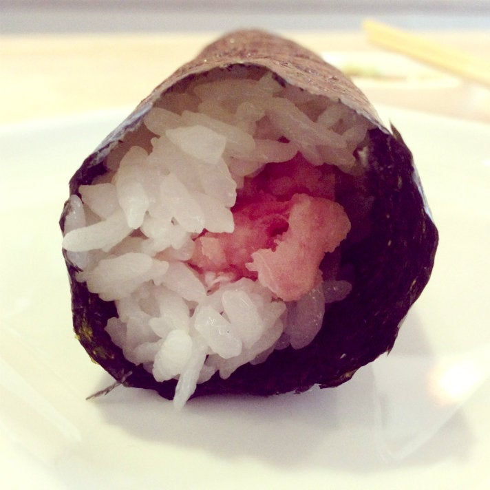 Toro hand roll at SUGARFISH