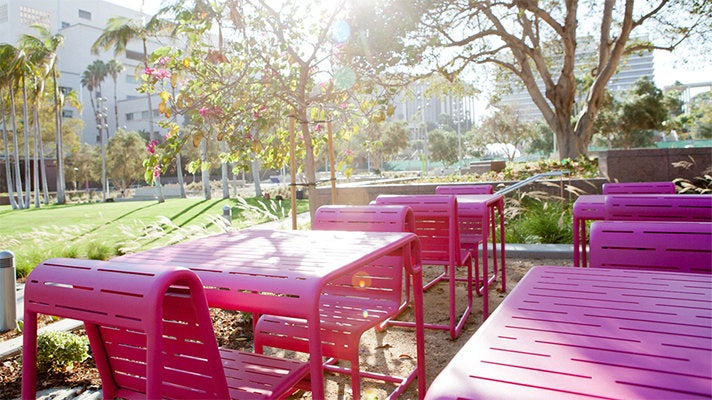 Grand Park benches