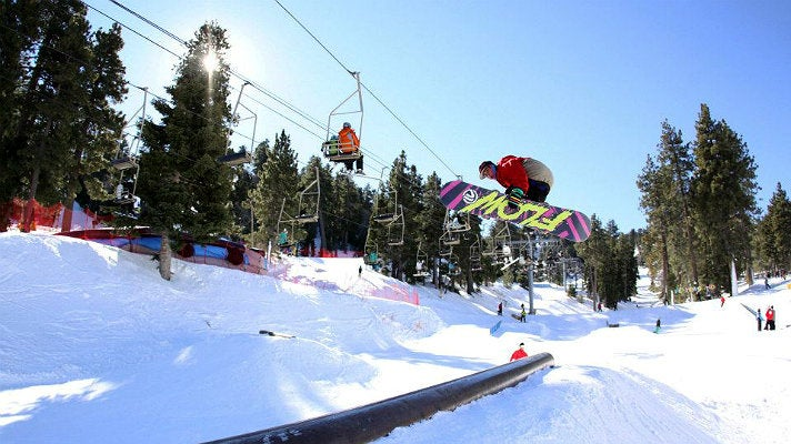 Snowboarder at Mountain High