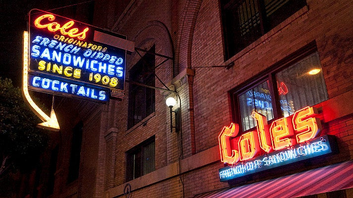 Neon signs at Cole's