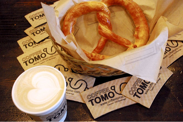 Pretzel at Coffee Tomo