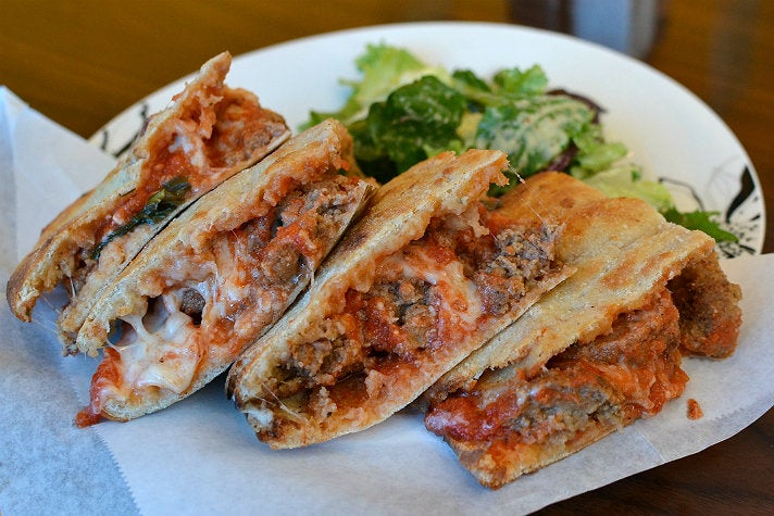 Meatball sandwich at The Good Pizza
