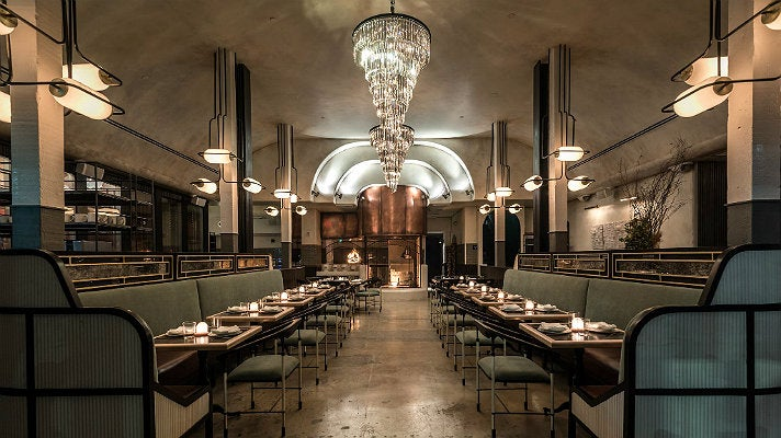 Dining room at Gwen restaurant in Hollywood