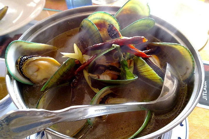 New Zealand Green Mussels at Jitlada