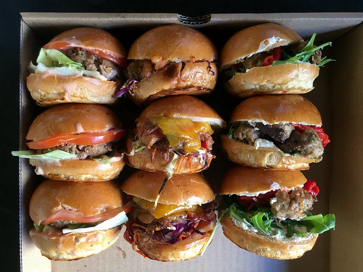 Mix and match sliders at Mud Hen Tavern