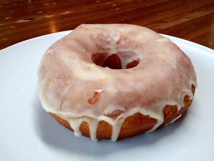 Citrus glazed doughnut at Republique