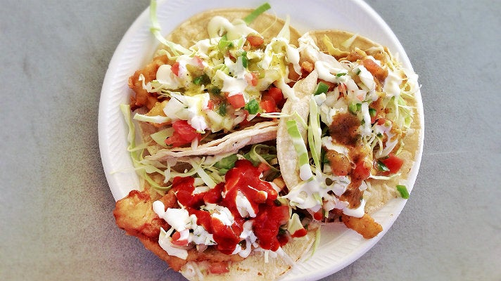 Fish and shrimp tacos at Ricky's Fish Tacos