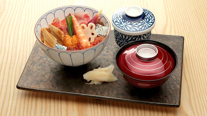 Sashimi lunch special at Sushi Tsujita