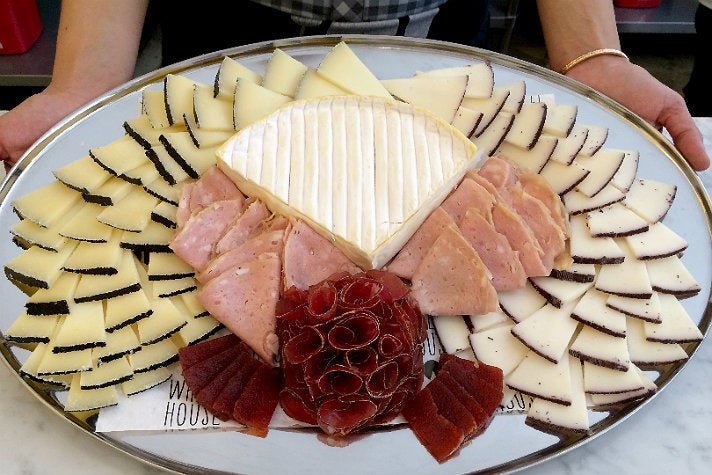 Cheese and meat platter at Wheel House Cheese
