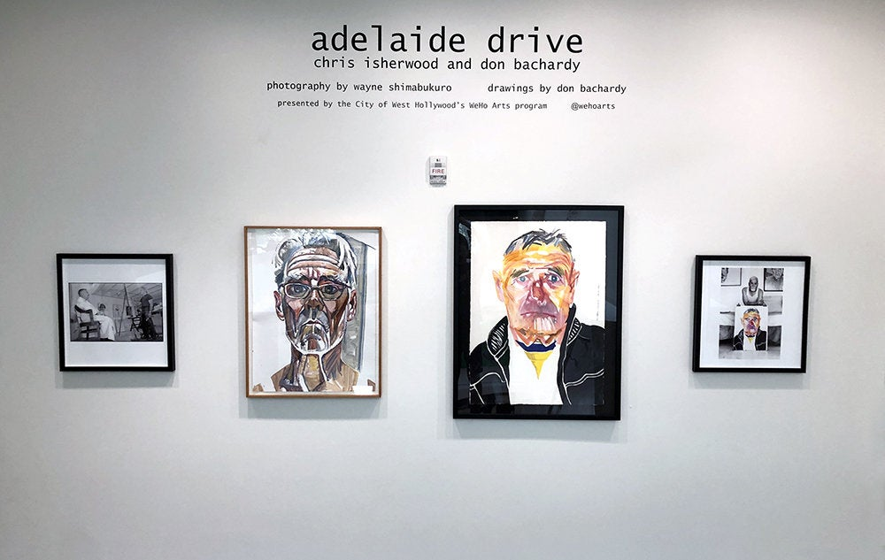 """""""Adelaide Drive: Christopher Isherwood and Don Bachardy"""" at West Hollywood Library"""