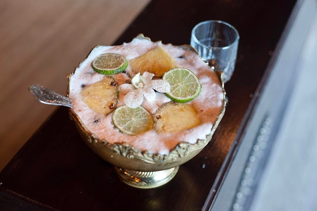 Rock Lobster punch bowl at The Spare Room