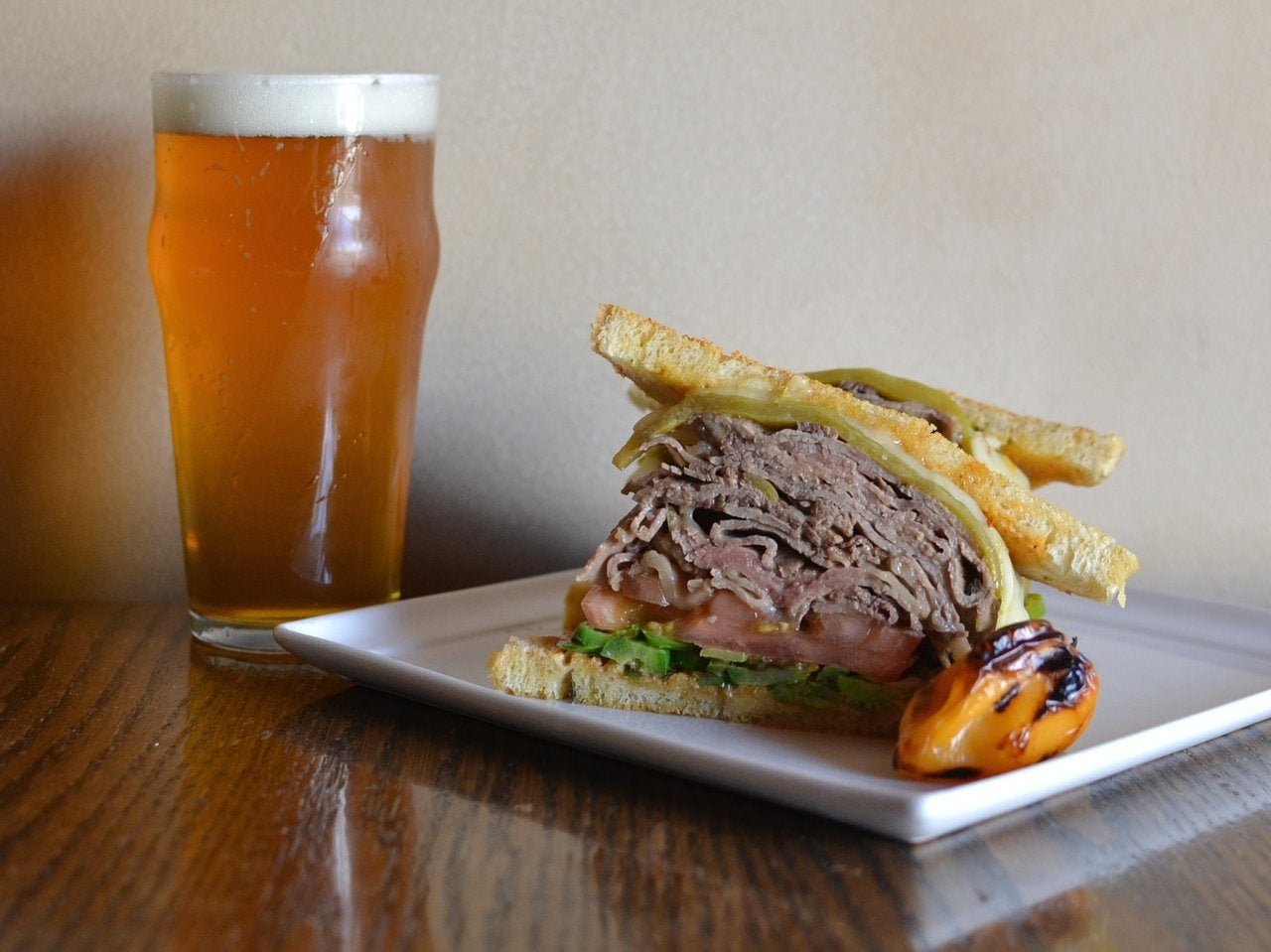 Liar's Fuego Steak Melt at Blue Palms Brewhouse