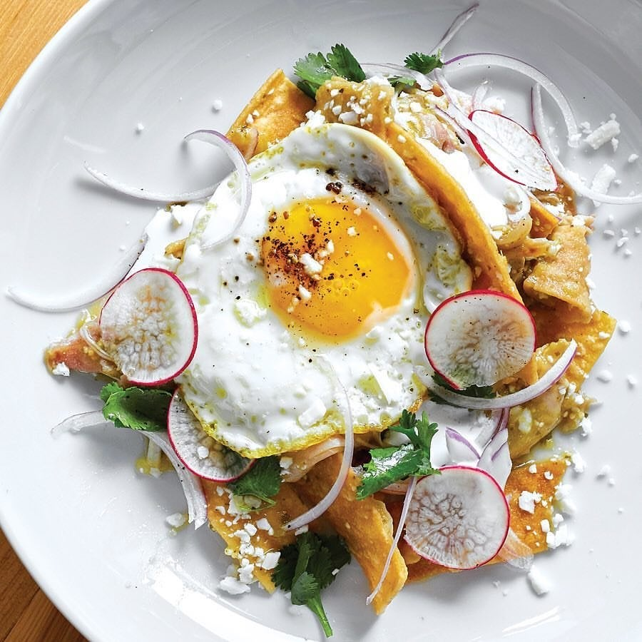 Chilaquiles at Claudine Artisan Kitchen & Bakeshop