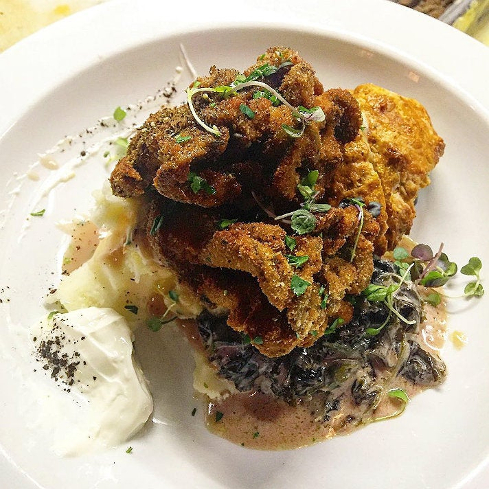 Fried hen of the woods at Elf Cafe