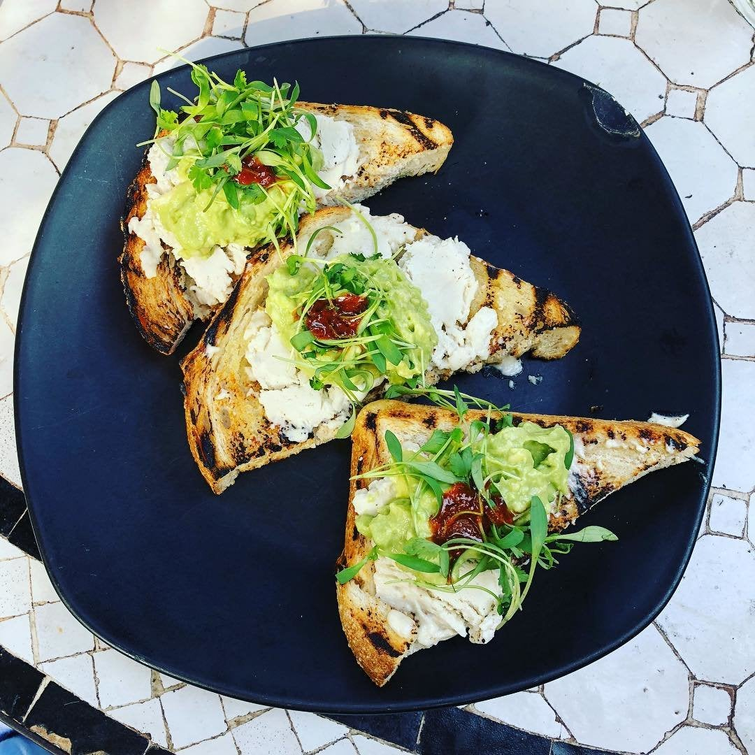 Avocado toast at Gracias Madre in West Hollywood