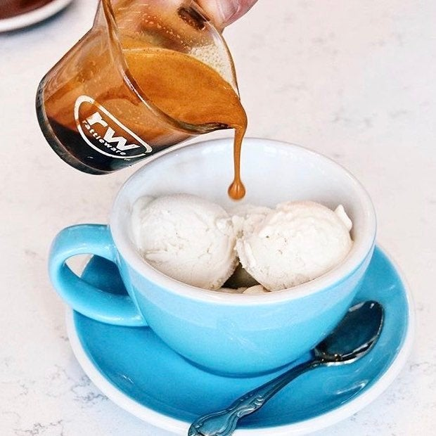 Vegan affogato at Groundwork Coffee in Hollywood