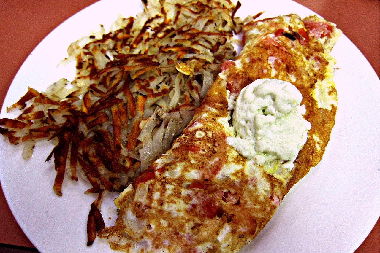 Spinach and Feta Omelette at Hungry Fox