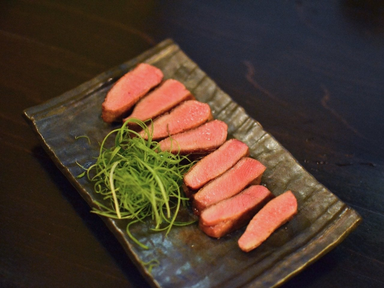 Grilled Thick-Cut Beef Tongue at Kinjiro in Little Tokyo