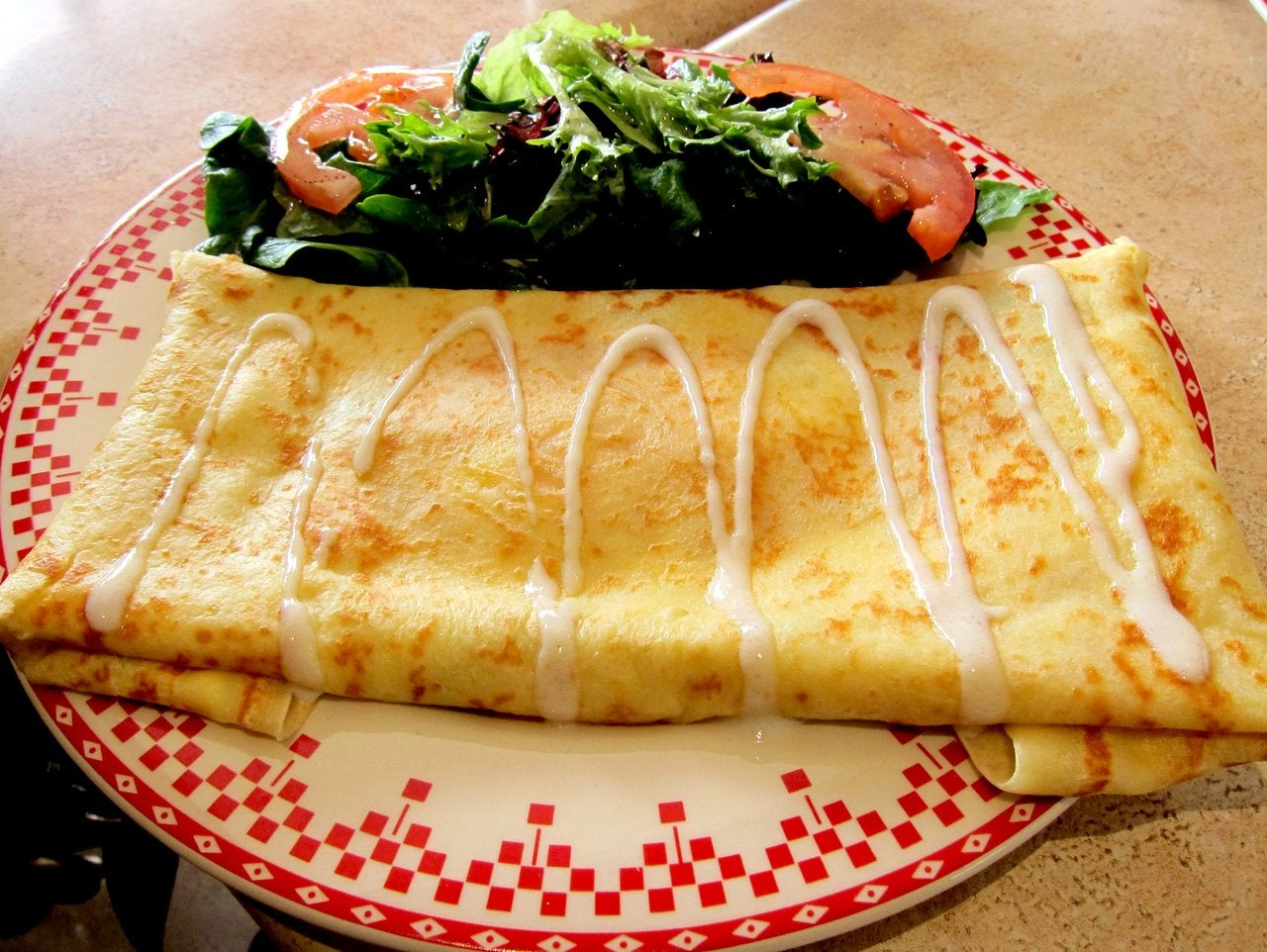 Smoked Salmon Crepe at Nesmon Café