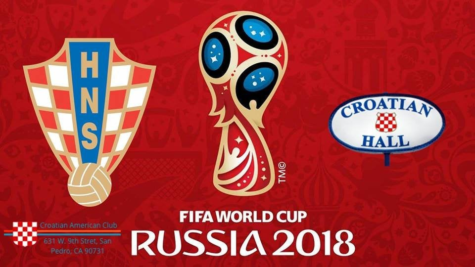 World Cup 2018 Final at the Croatian American Hall in San Pedro